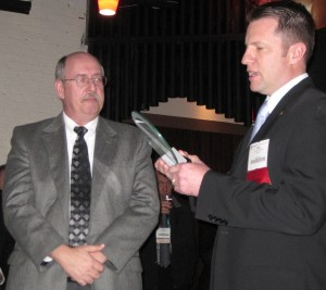 Joe Cornely was presented with the OVMA Friends of Veterinary Medicine award on Feb. 25, 2011.